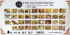 E-San Thai Cuisine Food Cart Menu